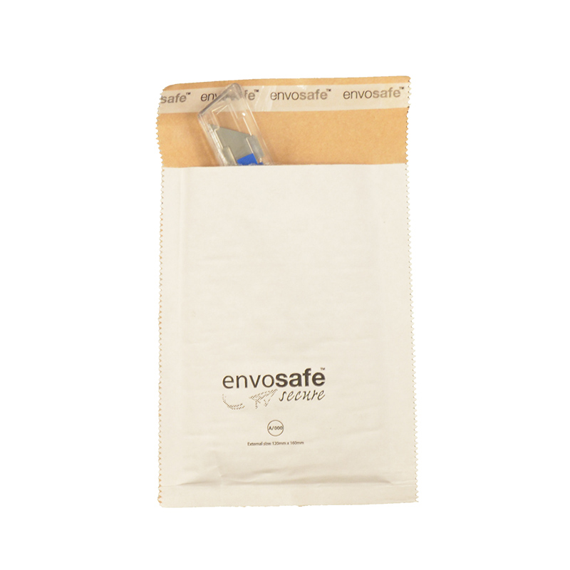 7a5f69cba7 ... Envosafe Secure™ High Performance Postal Bag 110mm x 165mm White Size A  Pack 200