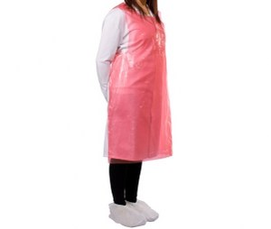 Protect™ LDPE Disposable Apron 690mm x 1070mm Red Pack 1000