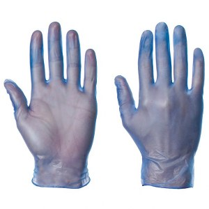 Protect™ Vinyl Gloves Large Lightly Powdered Blue (Pack 1000)