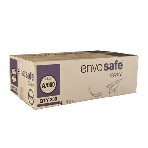 Envosafe Secure™ High Performance Postal Bag 110mm x 165mm White Size A Pack 200
